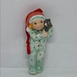 """3"""" Granddaughter Fine Porcelain Christmas ornament"""